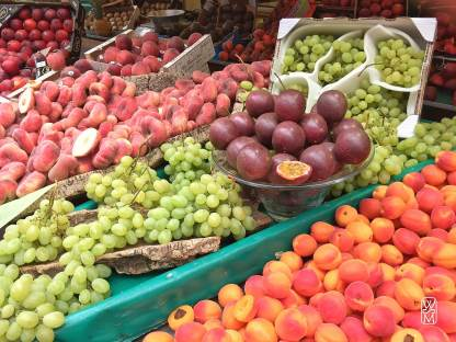 Fruit stall at Marché Poncelet